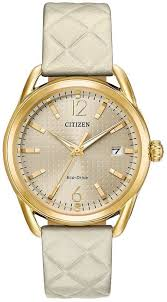 women s citizen ltr tan leather band 36mm watch fe6082 08p loading zoom