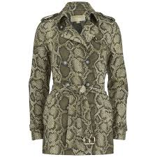 michael michael kors women s short printed trench coat duffle