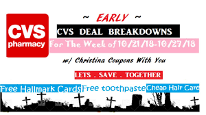 10 21 18 1027 18 cvs couponing early deal breakdowns how to coupon for beginners