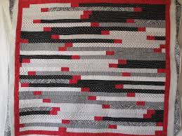 Queanbeyan Quilters Inc.: Even More Potato Chips & A striking Potato Chip quilt from a black and white jelly roll with red  highlights by Nena Marsh. Adamdwight.com