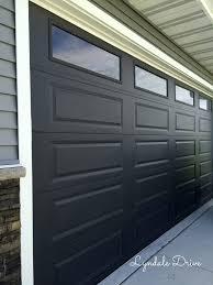 black paint garage door