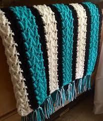 Free Crochet Afghan Patterns Simple Arrowhead Striped Afghan Free Pattern KnittingCrochet