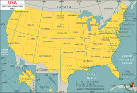 Usa Latitude And Longitude Map Download Free