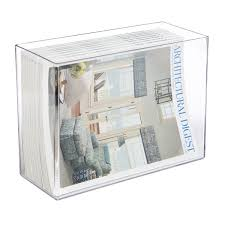 Clear Acrylic Magazine Holder Extraordinary Acrylic Magazine Slipcase The Container Store