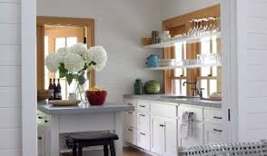 kitchen cabinetsidea of the week float shelves in front of windows