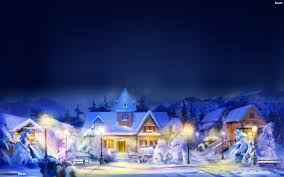 christmas town wallpaper.  Christmas Street Lights Illuminate The Street And Cozy Houses  For Christmas Town Wallpaper N