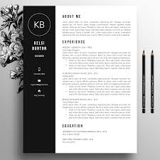 Black Modern Resume Template Word Ataumberglauf Verbandcom