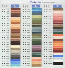 Anchor Floss Colour Chart Machine Embroidery Thread Online Charts Collection