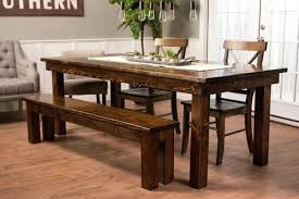 dining table bench walmart. full image for 7 x 37 farmhouse dining table in dark walnut stain with a satin bench walmart n