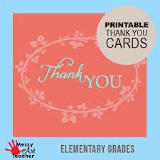 Printable Thank You Cards For Teachers Printable Thank You Cards Worksheets Teachers Pay Teachers