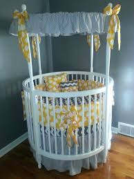 circle crib with canopy modern white round baby crib with amazing gray  themed canopy accessories also
