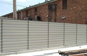 sheet metal fence. Delighful Fence Sheet Metal Fence Fences Throughout In Inspirations 15