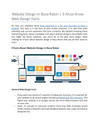 Boca Web Design Ppt Website Design In Boca Raton 9 Must Know Web Design