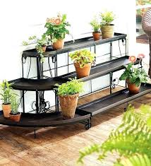 herb garden plant stands embellished steel straight stand without the trays for brads bonsai herbs outdoor