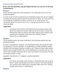sat essay prompts sat essay prompts yprep academy sat essay quotes quotesgram