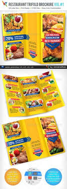 Restarunt Brochure Amazing Colorful Food Menu Template Print Template And Colorful Food
