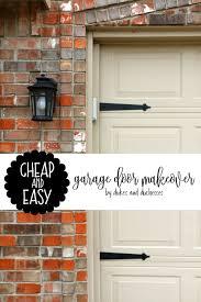 and easy garage door makeover