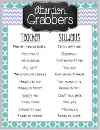 my favorite attention grabbers poster mrs heeren s my favorite attention grabbers poster mrs heeren s happenings