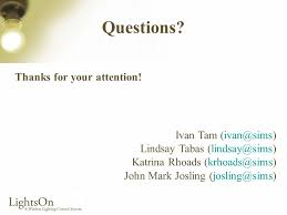 Final Presentation Ivan Tam Lindsay Tabas Katrina Rhoads John Mark Josling.  - ppt download