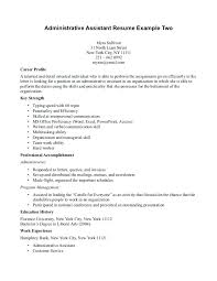 Objective Statement For Administrative Assistant Resume Sample Resumes For Administrative Assistant Thrifdecorblog Com