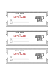 Movie Ticket Template Free Download Free Printable Tickets Template RESUME 9