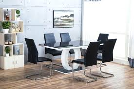 white high gloss dining table and chairs furniture new modern black white high gloss dining table