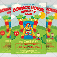 Kids Birthday Bash Invitation Card A5 Psd Template Exclsiveflyer