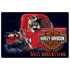 Harley Davidson Signs Decor HarleyDavidson Dogs Understand Bulldog Tin Sign Garage Decor 36