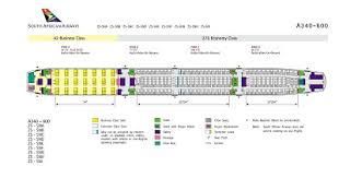 South African Airways Seating Chart Airplane Pics December 2008