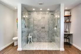 marble master bathroom white marble master bathroom with walk in shower and low profile chandelier marble