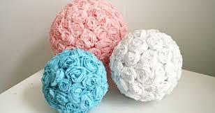 Crepe Paper Flower Balls Hanging Roses Flower Ball Tutorial Pins I Love Paper