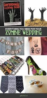 everything you need for the most bad ass zombie themed wedding Zombie Wedding Decorations everything you need for a zombie wedding from @offbeatbride zombie wedding supplies