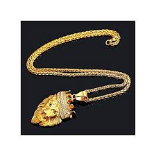 hip hop style rhinestones king crown lion head pendant necklace 18k gold plated chain