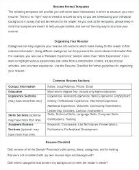 Simple Resume Format Examples – Resume Example Collection