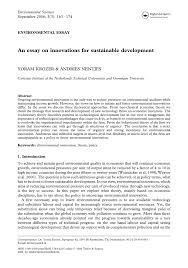 an essay on innovations for sustainable development pdf an essay on innovations for sustainable development pdf available