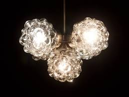 mid century modern bubble glass chandelier by helena tynell for