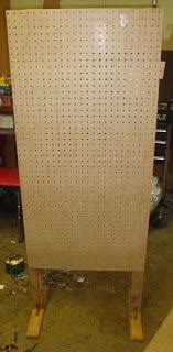 Free Standing Display Board Freestanding pegboard display wall Pinteres 80