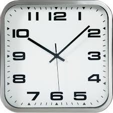 tfa square metal quartz wall clock from conradcom