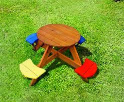kids folding picnic table round