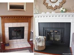 painting fireplace surround to charcoal grey black a good option to rejuvenate those tired looking tiles