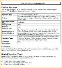 Daily Project Status Report Template Simple Project Status Report