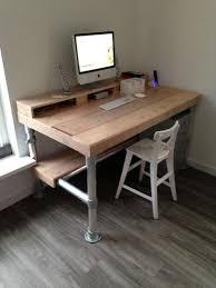 pin by emil dela on industrio industrial style desk rustic computer desk diy