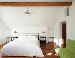 elegant ceiling fans with lights Bedroom Contemporary with alcove