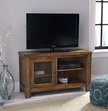 Tv Entertainment Stand Ashley W830 18 Tamonie Rustic Brown Finish Wood Tv Entertainment Stand