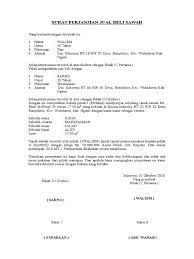 10 Contoh Surat Perjanjian Jual Beli Yang Baik Dan Benar Lengkap