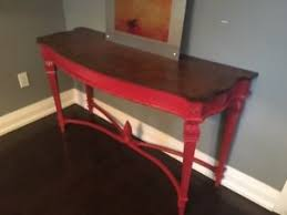 red hallway table. refurbished vintage hallway or console table - artichoke design red