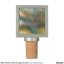 eden pewter wine stopper by artist c l brown