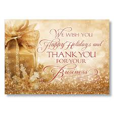 Buisness Greeting Cards Business Thank You Holiday Card Corporate Christmas Cards Hrdirect