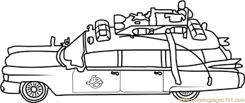 Small Picture Ghostbusters Car Coloring Page Free Ghostbusters Coloring Pages