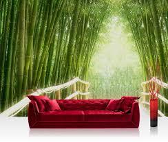 Foto Behang Bamboo Bos Vliesbehang 300x210cm Of 400x280cm